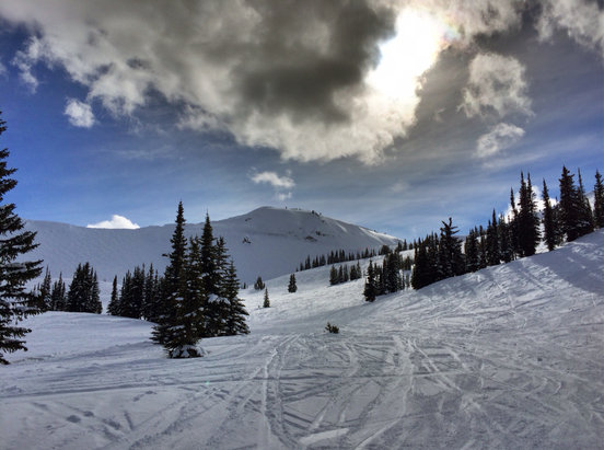 Kicking Horse - Snow was great up top today.  Temps were perfect and plenty of sunshine. - © shlags iPhone