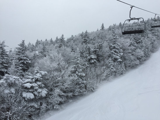 Stratton Mountain - Great day on the mountain.  Good snow, no lines, no complaints.  Thanks for such a great winter Stratton.  - ©my iPhone