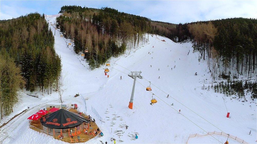 Klínovec - Jáchymovská sjezdovka a jižní svahy budou o Velikonocích znovu v provozu