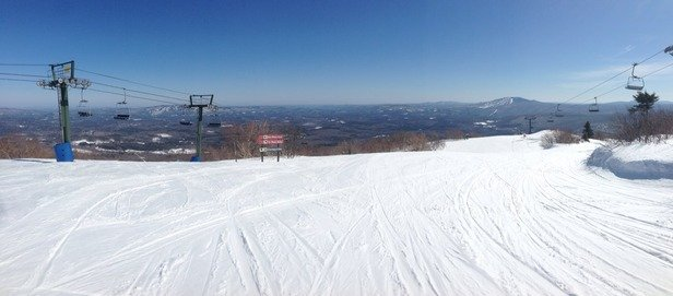 Bromley Mountain - Perfect day of spring skiing. Every trail open and still plenty of snow.  - © LYNCH_DAVI's iPhone