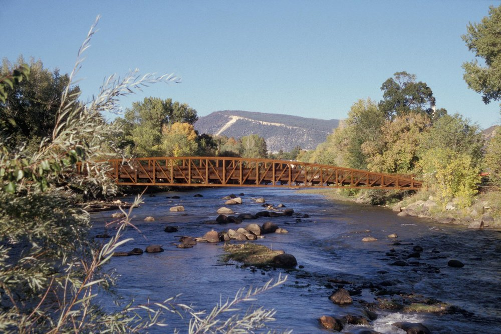 Animas River bridge in Durango, CO.