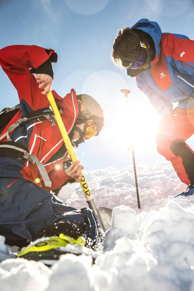 Simulation der Verschüttetensuche - © Christoph Jorda | www.christophjorda.com
