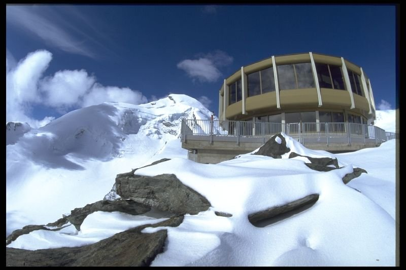 Revolving Restaurant Three Sixty above Saas Fee