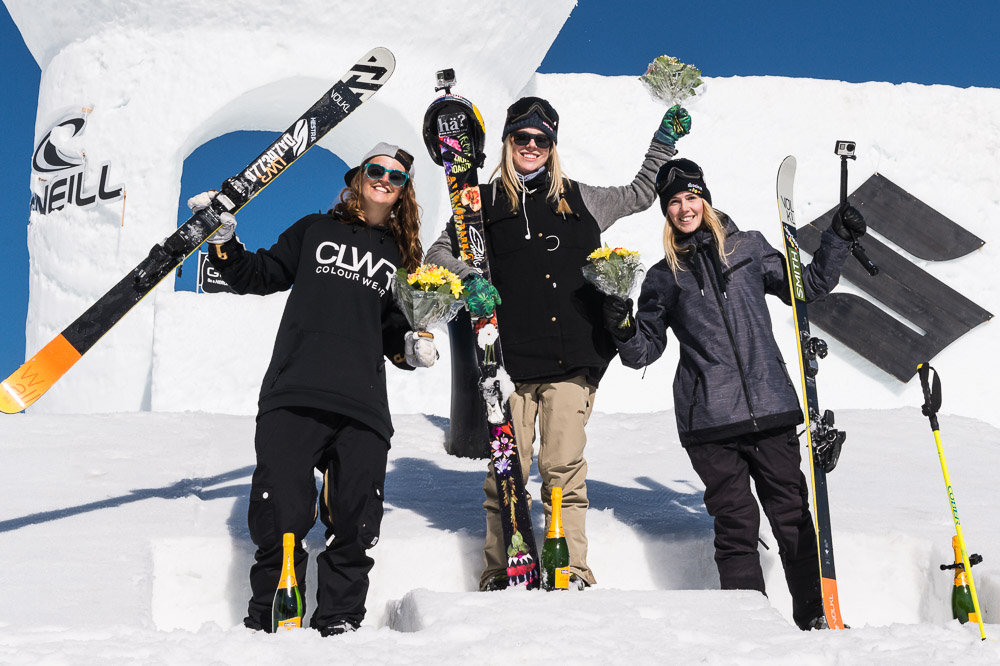 Podium Big Air Contest beim Suzuki Nine Queens 2015 - © Klaus Polzer