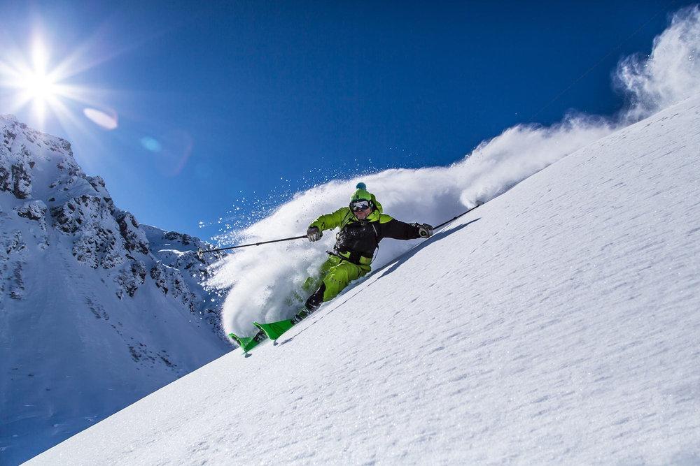 Bluebird-Skiing Anfang März