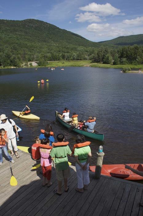 Waterville Valley Resort, N.H., canoeing