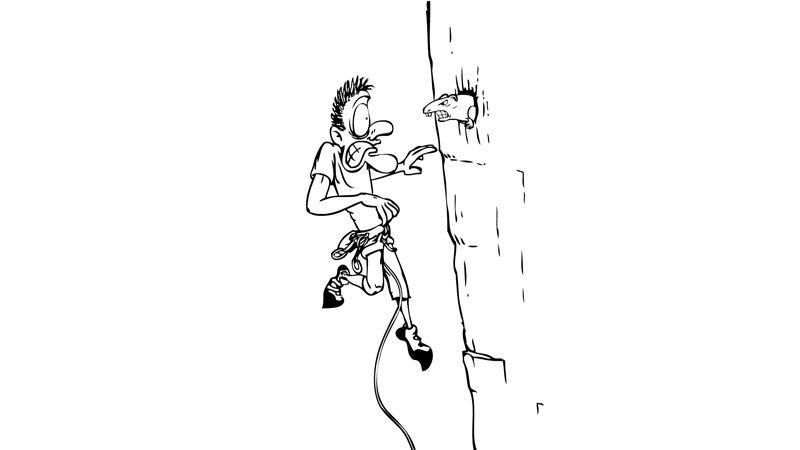 Cartoon Klettern - © DAV