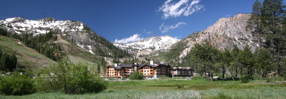 Squaw Valley village and panorama