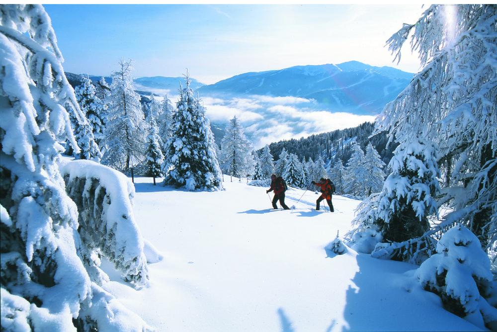 Snowshoers at Bad Kleinkirchheim