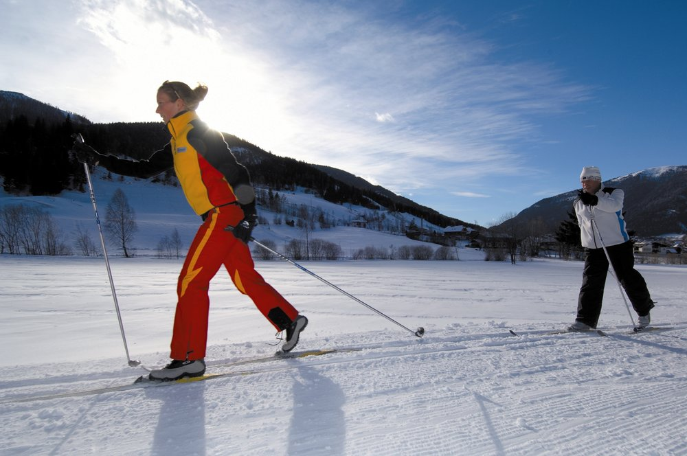 Cross country skiers in Bad Kleinkirchheim
