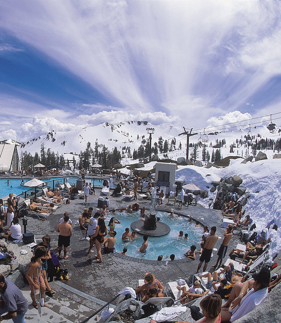 Outdoor pool at Squaw Valley village