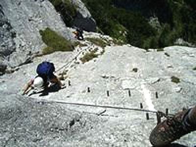 Klettersteig Unfall : Hindelanger klettersteig