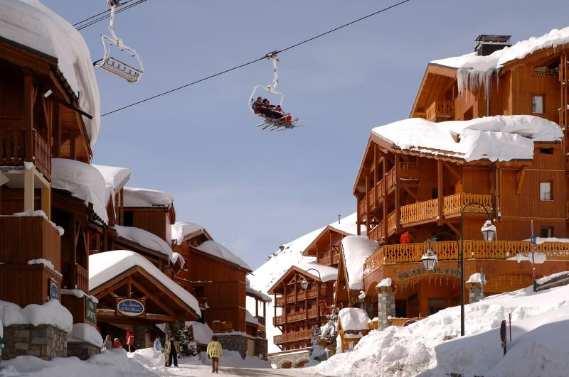 At 2,300m, Val Thorens is the highest ski resort in Europe