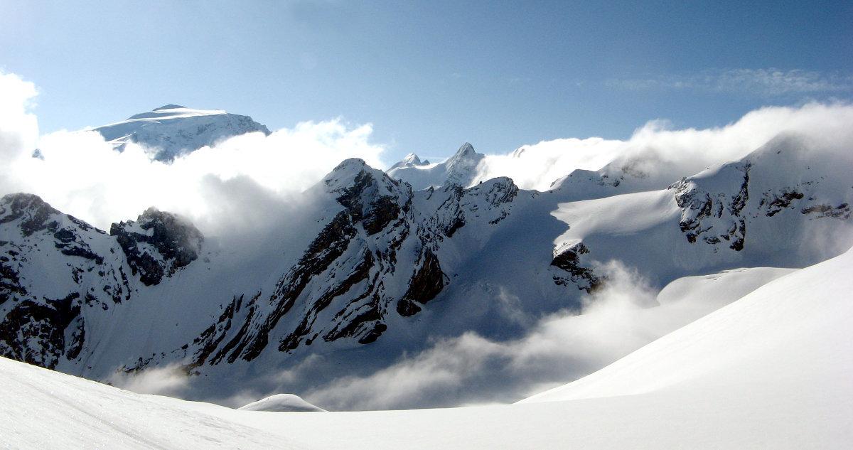 Passo Stelvio Pirovano, Panorami ghiacciaio