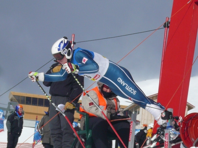 Jas Bruce ski racing for Great Britain