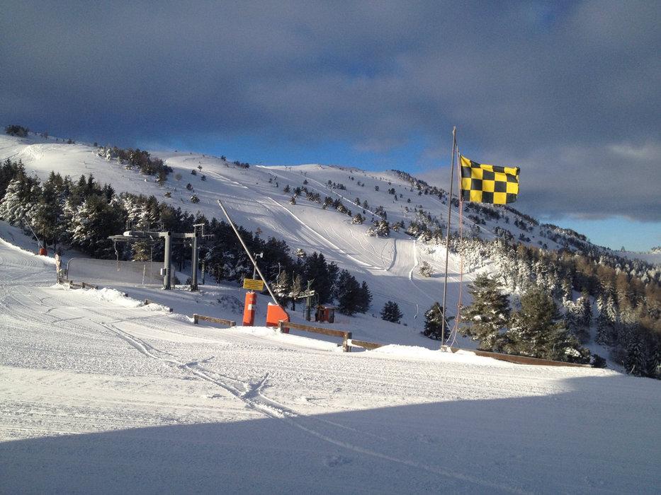 Sur le domaine skiable de Camurac
