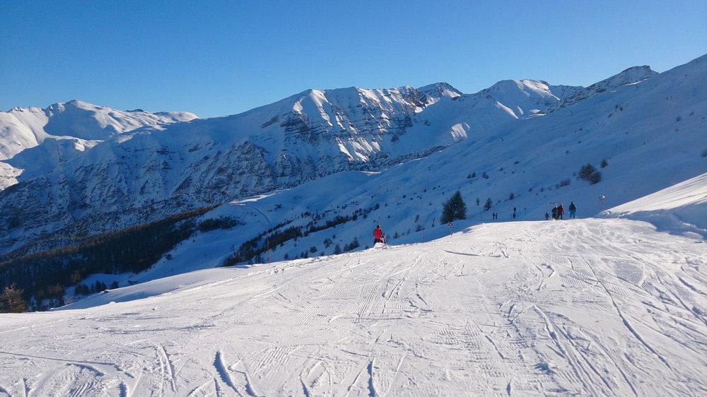 Sur le domaine skiable de Crévoux