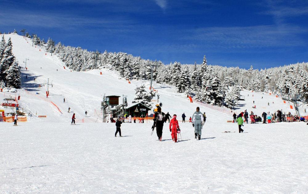 Le front de neige de Bolquère Pyrénées 2000