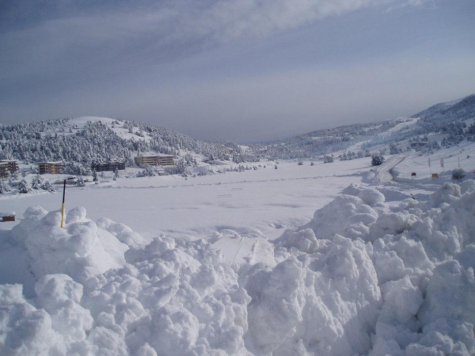 Ambiance hivernale à Gréolières les Neiges