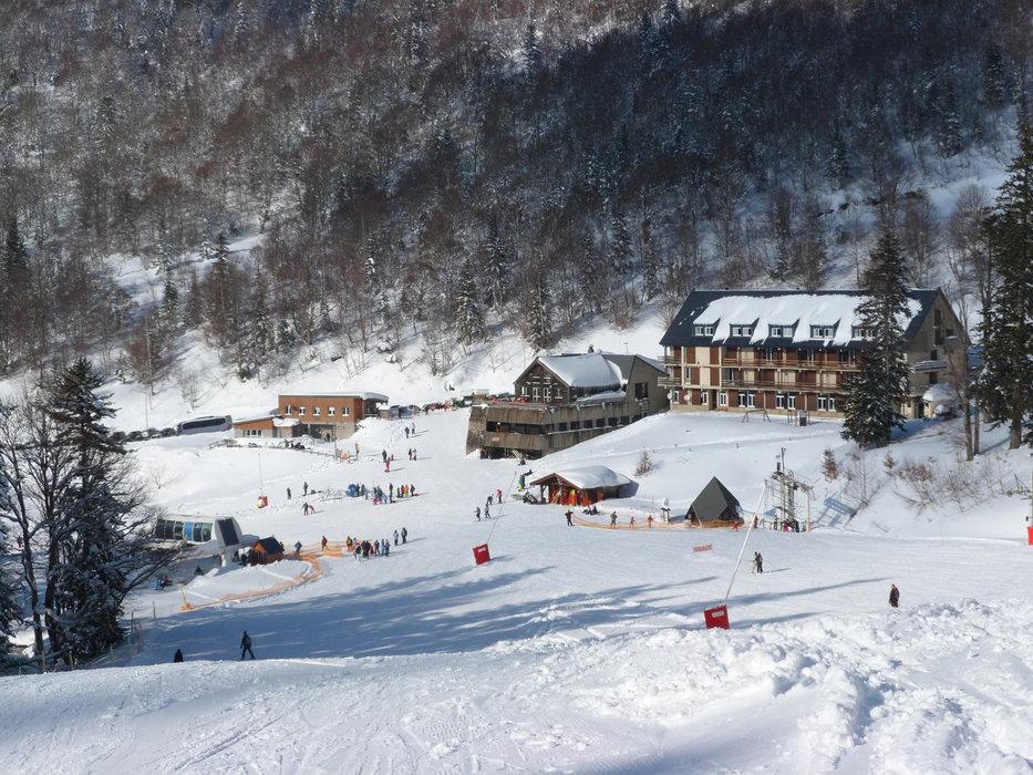 Le front de neige d'Ascou