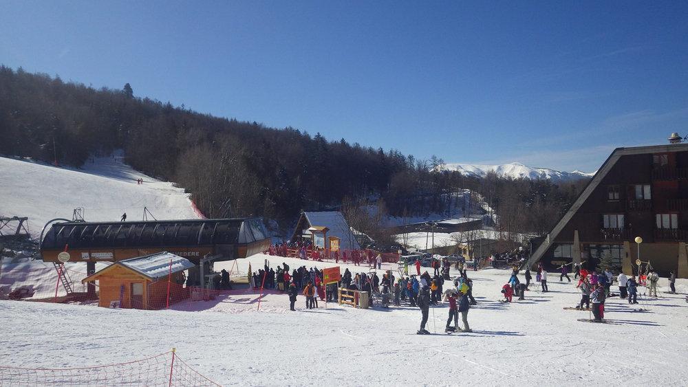 Le front de neige de St Jean Montclar