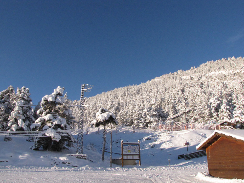 Parking et départ des pistes de ski de l'Audibergue