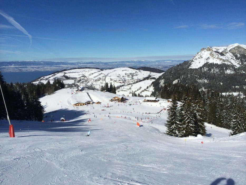 Sur les pistes de ski de Bernex