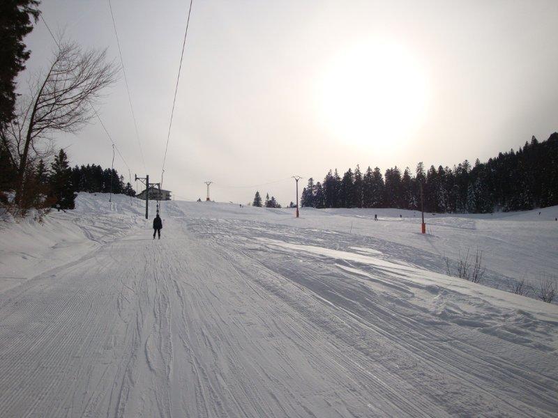 Sur les pistes de ski du Col de Porte (secteur de la Prairie)