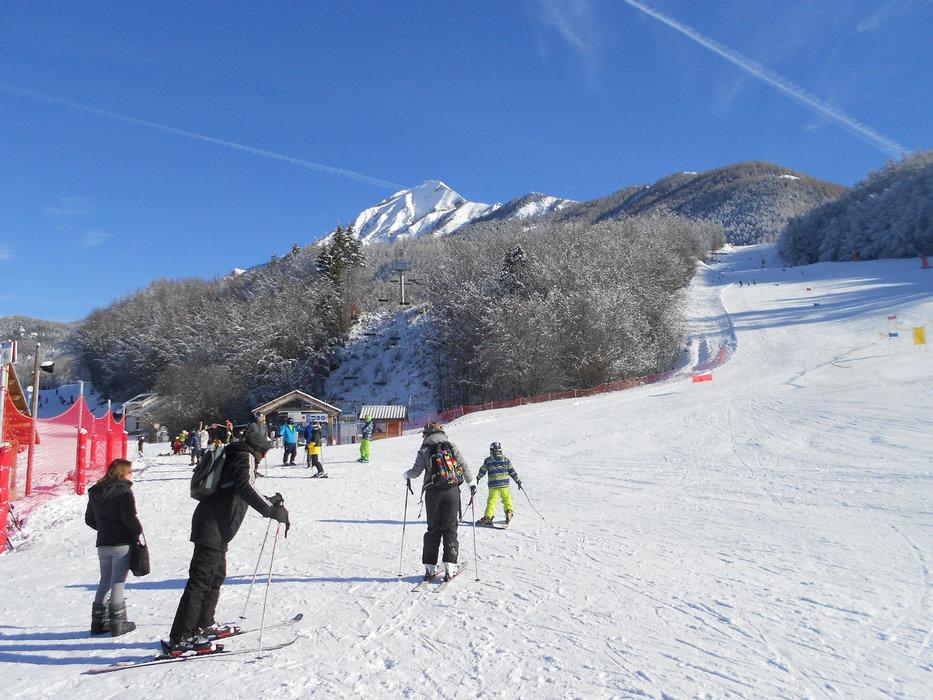 En route pour les pistes de ski de Saint Léger les Mélèzes