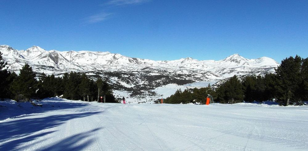 Sur les pistes de ski de Bolquère Pyrénées 2000