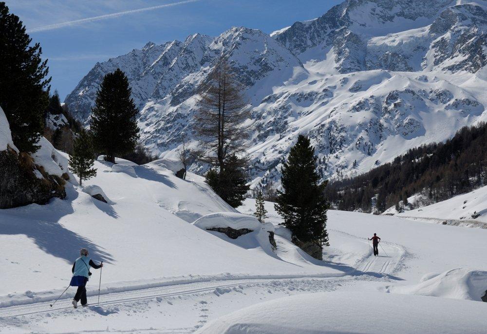 Ski de fond sur le domaine nordique d'Arolla... - © Evolène Region
