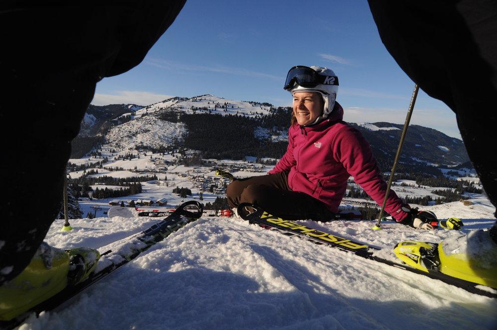 """In der Winersaison 2013/2014 kürte der Deutsche Skiverband das Skigebiet Oberjoch zum """"Besten Familien-Skigebiet"""" im Alpenraum. - © Wolfgang B. Kleiner/Bergbahnen Hindelang-Oberjoch"""