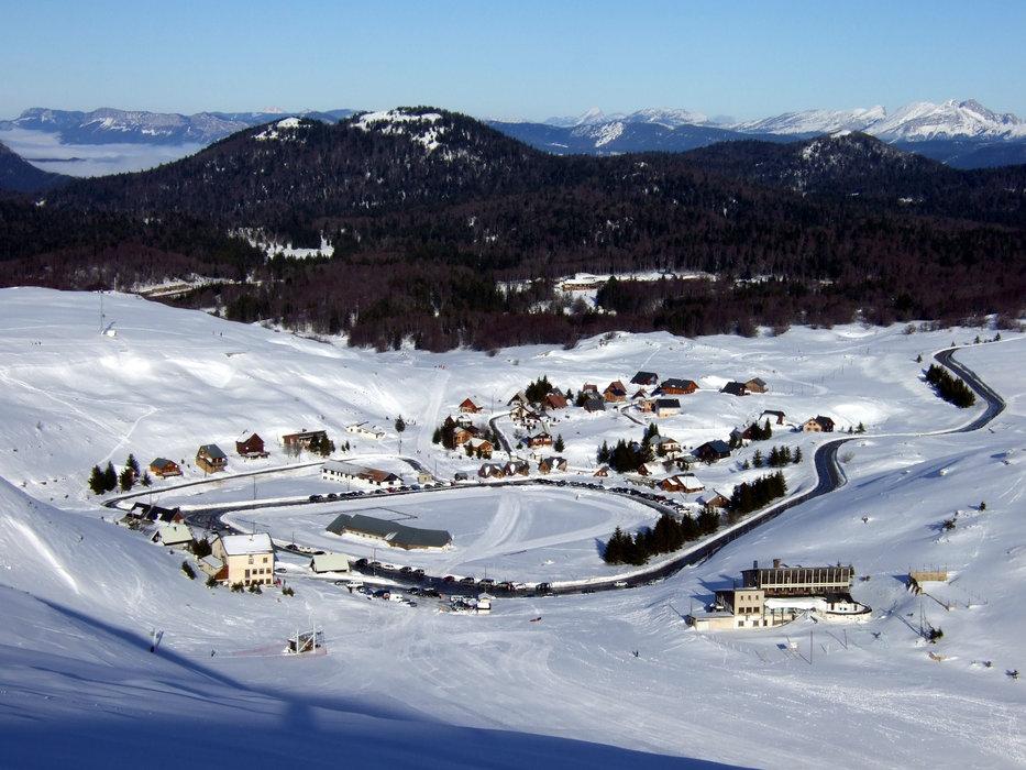 Vue sur la station de ski de Font d'Urle