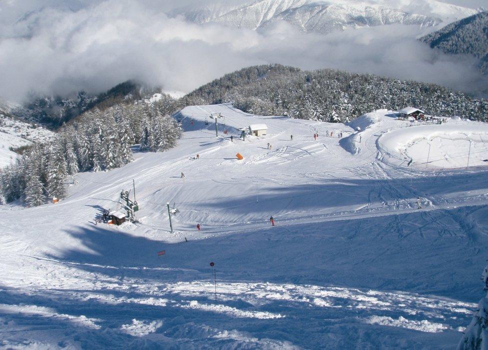 Sur les pistes de ski de Roubion