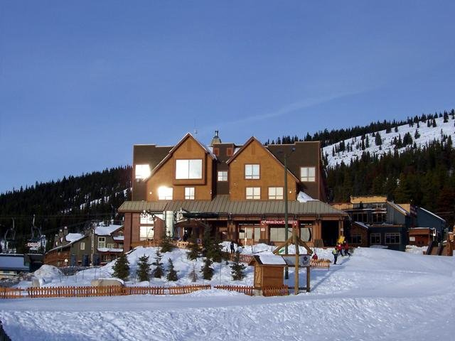 A view of a lodge at Big White Ski Resort, B.C.