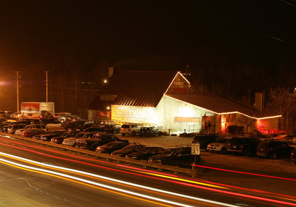 The Wobbly Barn restaurant in Killington, VT.