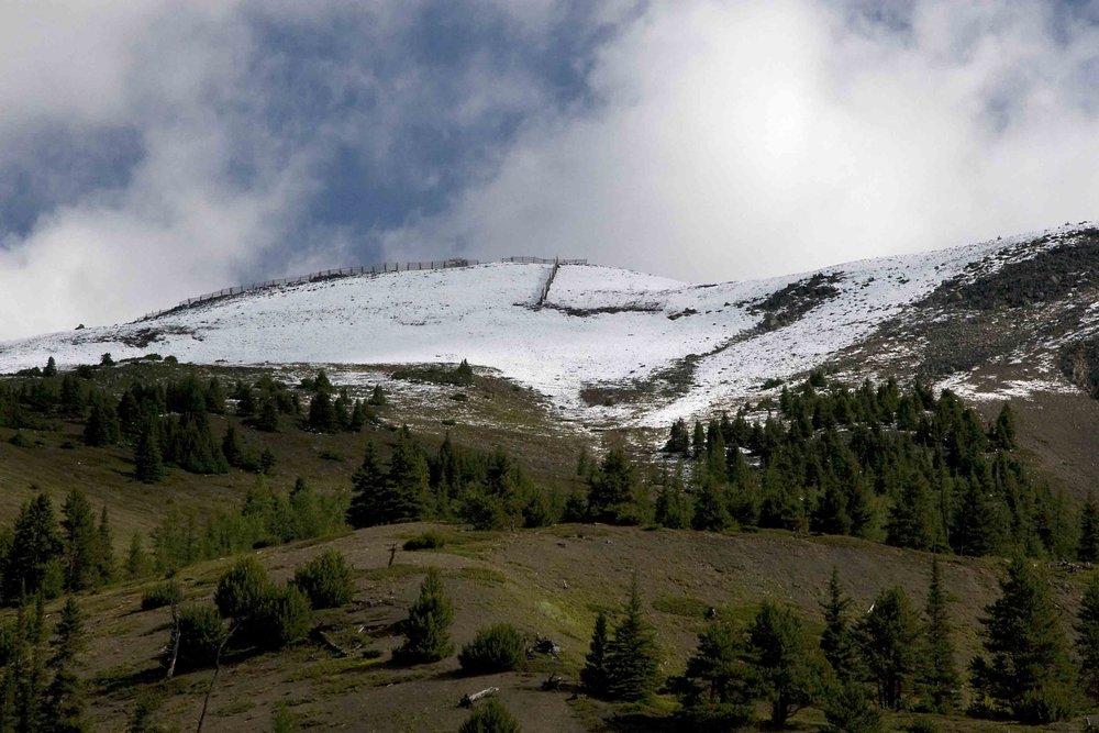 A dusting of snow on Banff, August 2009. Photo by Chris Moseley