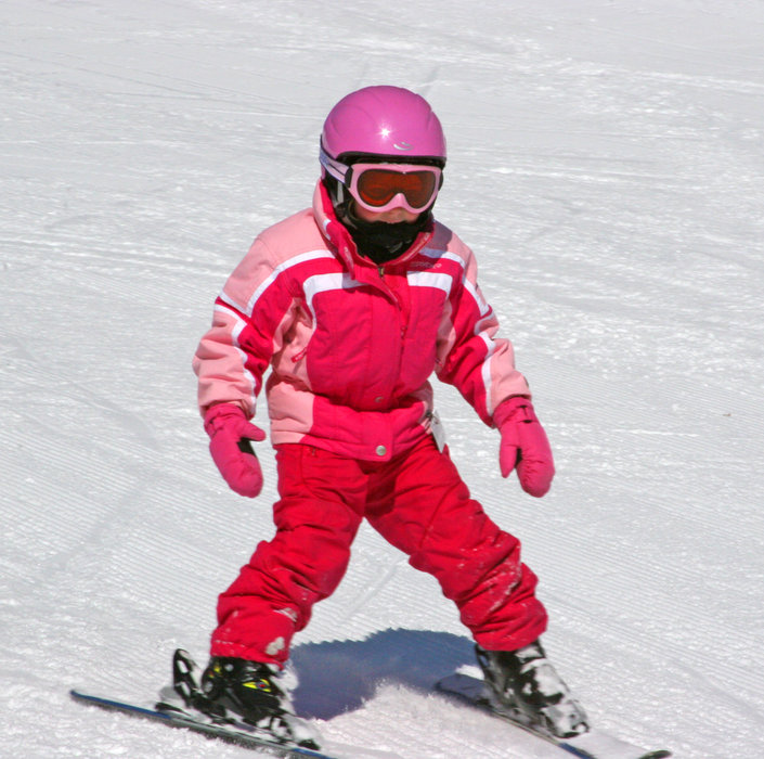 Girl skiing at Wild Mountain, MN
