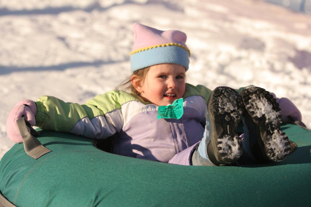 Girl tubing at Wild Mountain, MN