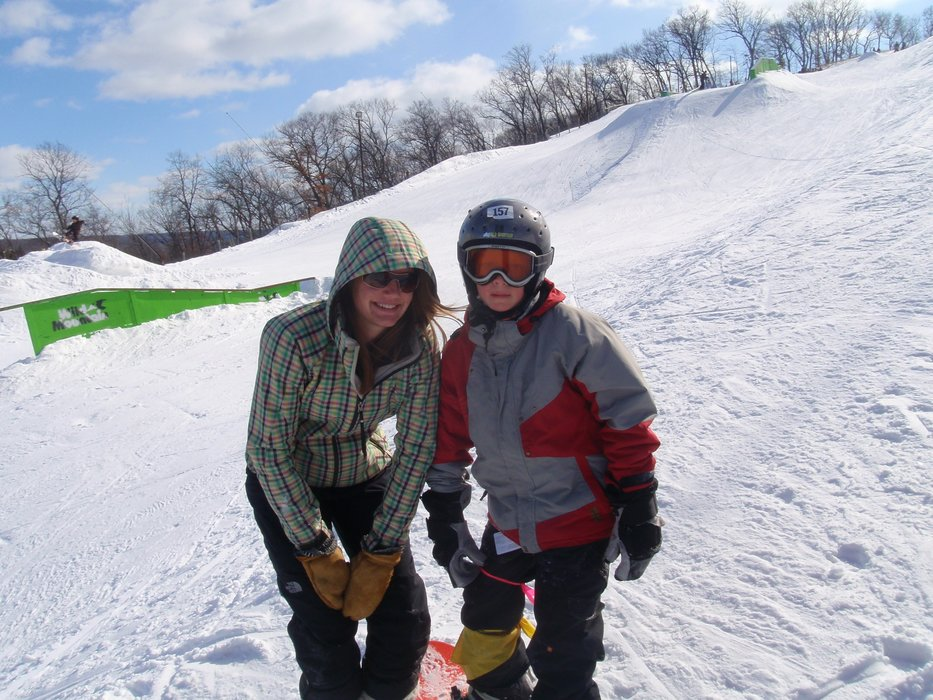 Pair of youths at Wild Mountain terrain park