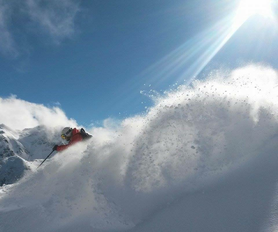 The large low pressure system, El Gordo, spinning over Silverton Mountain during the past couple of days continues to drop heavy snow on the slopes. - © Silverton Mountain