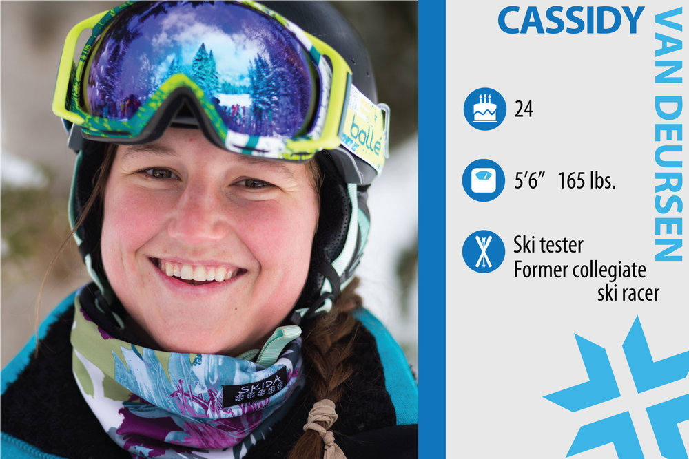 Cassidy Van Deursen. Job in real life: Customer service rep. What are you working on in your own skiing?