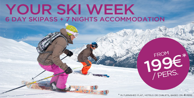 6 day skipass + 7 nights accomodation from 199 euros / pers. - © Les Contamines - Montjoie