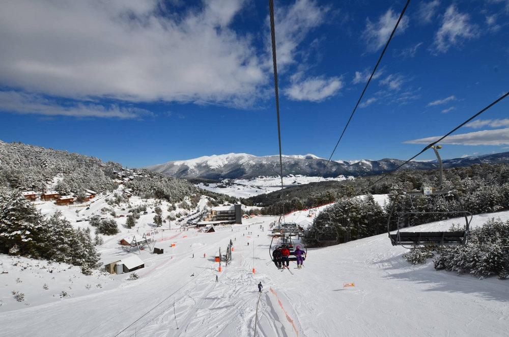 En route pour les pistes de ski de Puyvalador - © Station de Puyvalador