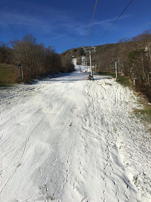Sugar Mountain Resort - Opening day, great to be back on the hill again but it was a big risk on messing up your equipment  - © Caleb Rio-Anderson's iPh