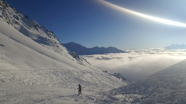 Verbier - lots of new snow here at season opening - © johanandsjo