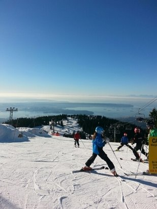 Grouse Mountain - Decent snow for the beginning season. But a gorgeous day.   - © brandoclarke1989