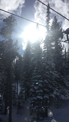 Snowy Range Ski & Recreation Area - It was nice and sunny yesterday the 28th. Some runs have pretty good snow - © 3bdlla's iPhone