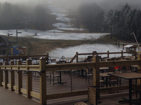 Greek Peak - Can't wait to ski Greek and eat on the new deck.  - © John Moomey