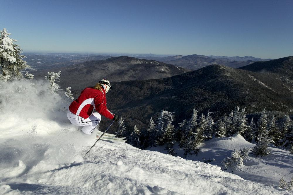 Powder skier at Smugglers' Notch, Vermont. - © Smugglers' Notch
